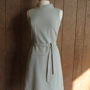 Seafoam green Vintage 1960's Shift dress with belt